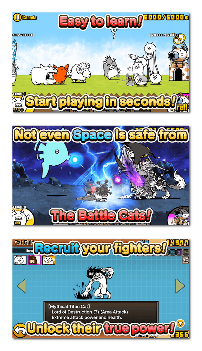 The Battle Cats gameplay